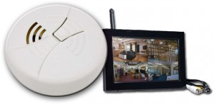 Digital Wireless LCD Receiver Smoke Detector